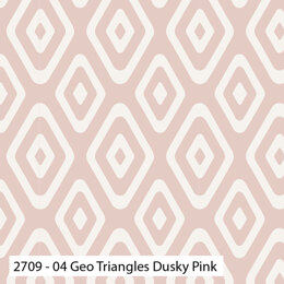 Craft Cotton Company Botanical Elements - Geo Triangles Dusky Pink