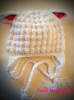 922494f77 Little Lamb Beanie Crochet pattern by April Bennett