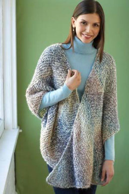 Shaded Triangles Wrap in Lion Brand Homespun - 80395AD