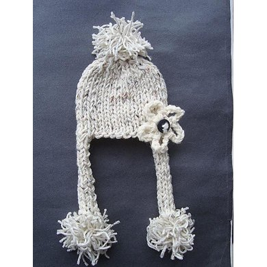 Oatmeal Unisex PomPom Hat by SweetPotatoPatterns