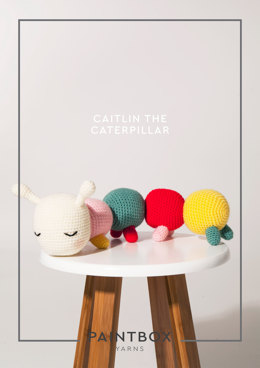 Caitlin the Catepillar in Paintbox Yarns - DK-CRO-TOY-003