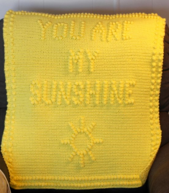 Knitting Pattern For You Are My Sunshine Blanket : You Are My Sunshine Blanket Crochet pattern by The Baby Crow