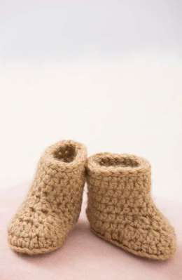 Warm Baby Boots in Red Heart With Love Solids - LW4788 - Downloadable PDF