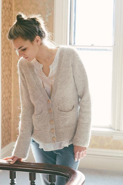 Uniform Build Your Own Cardigan Knitting Pattern By
