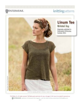 Linum Tee in Quince & Co Sparrow - Downloadable PDF
