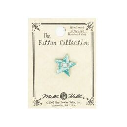 Mill Hill Button 86248 - Very Small Star - Country Green