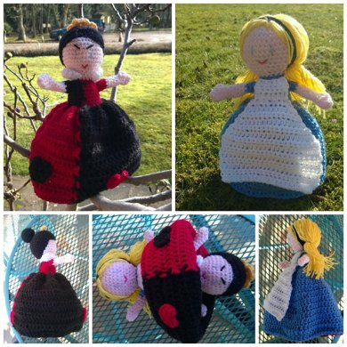 Alice & the Queen of Hearts Topsy Turvy Doll