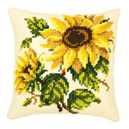 Vervaco Sunflower Duo Cushion Front Chunky Cross Stitch Kit - 40cm x 40cm