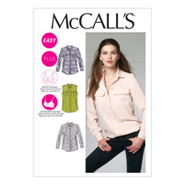 McCall's Misses'/Women's Shirts M6436 - Sewing Pattern