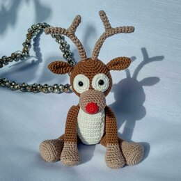 Rudolph the Reindeer - UK Terminology - Amigurumi