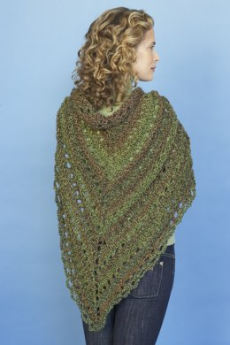 Splendid Triangle Shawl in Lion Brand Homespun - 80982AD