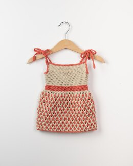 Crochet Baby Dress Little Ladybug