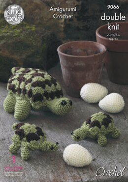Tortoise Family in King Cole Pricewise DK - 9066 - Downloadable PDF