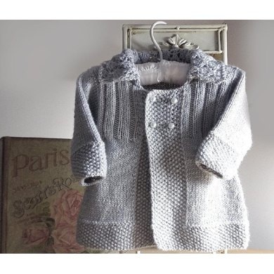 Baby girls jacket with lace collar Knitting pattern by OGE ...