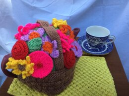 Afternoon Tea A Basket of Flowers Tea Cosy