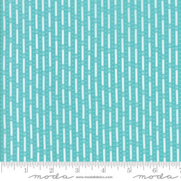 Moda Fabrics First Romance Blue Eye Floral Cut to Length - Climbing Lattice Aqua