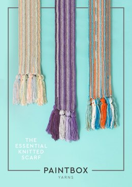 The Essential Knitted Scarf in Paintbox Yarns Chunky Pots - Downloadable PDF