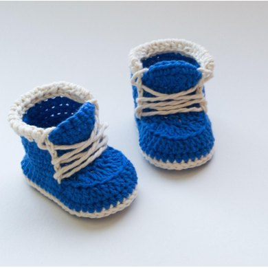 Little Runners Crochet Baby Booties