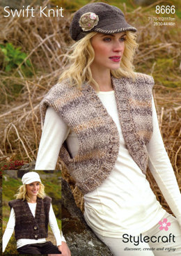 Shrug and Waistcoat in Stylecraft Swift Knit Super Chunky - 8666