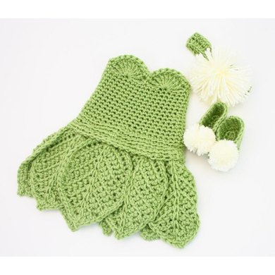 B12 Tinkerbell Costume Dress Crochet pattern by KnitsyCrochet Knitting Patt...