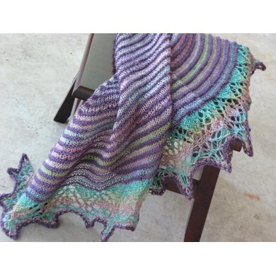 Two Color Crescent Shawl