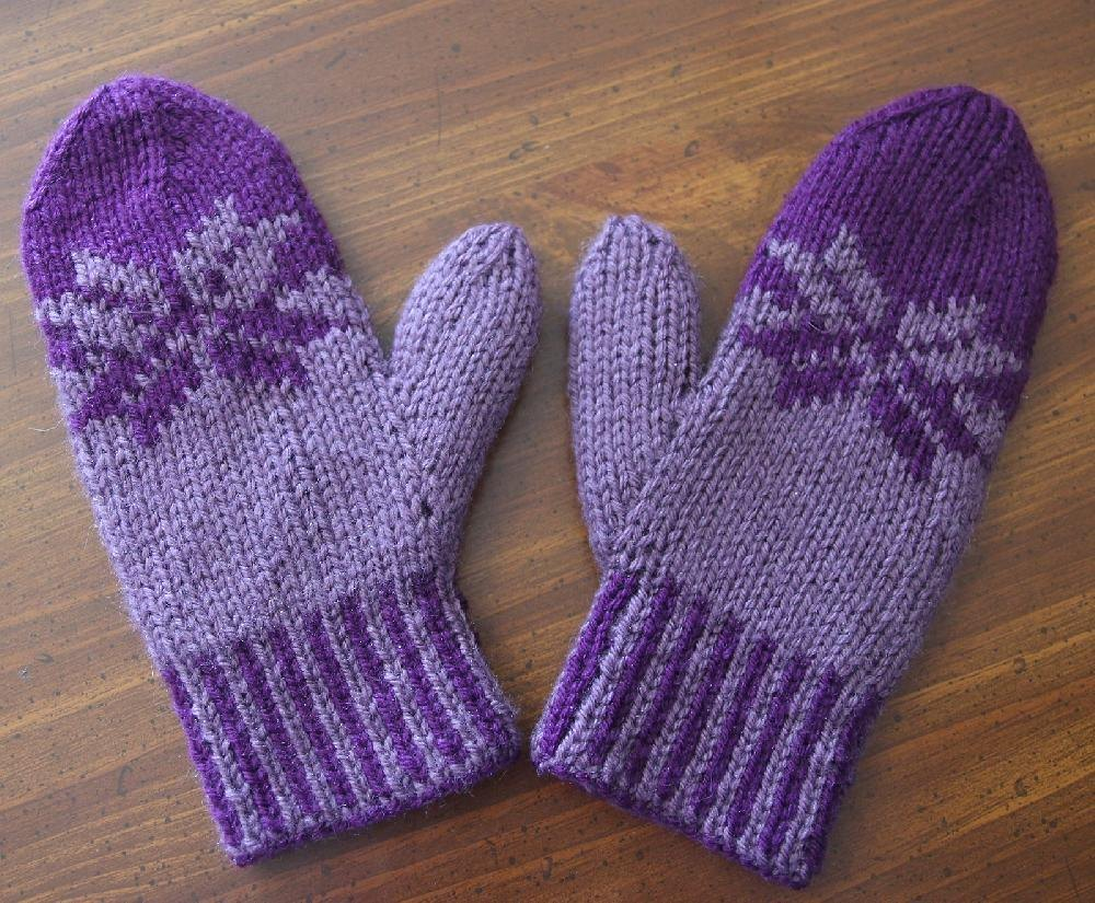 Double Knit Fair Isle Mittens Knitting Pattern By
