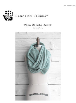 Fino Circle Scarf in Manos del Uruguay Silk Blend Fino
