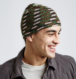 Camo Hat in Caron Simply Soft Camo - Downloadable PDF