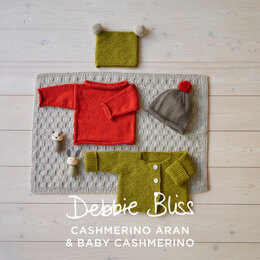 Jacket, Jumper, Beanie, Hat & Blanket - Layette Knitting Pattern for Babies in Debbie Bliss - Downloadable PDF