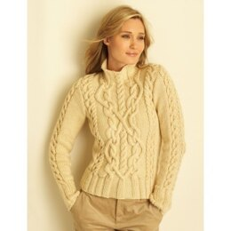 Cable Sweaters in Bernat Super Value
