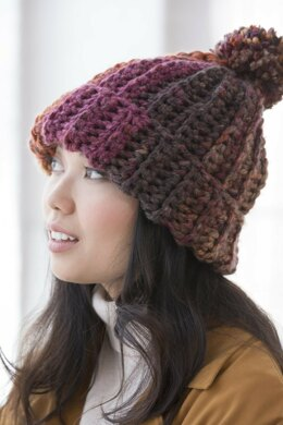 Pennington Hat in Lion Brand Mandala Thick & Quick - L80171 - Downloadable PDF