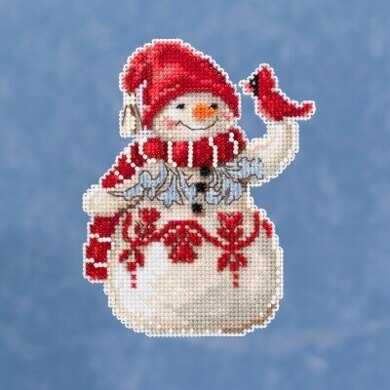 Mill Hill JimShore Pint Size Christmas - Snowman With Cardinal - 4inx5in