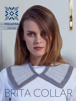 """Brita Collar"" - Accessory Knitting Pattern For Women in MillaMia Naturally Soft Merino"