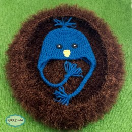 Newborn Blue Bird Hat and Nest
