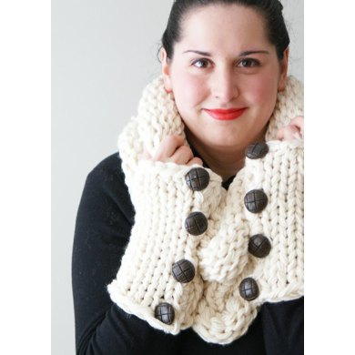 Simple Chunky Knit Shawl Cowl And Arm Warmers Knitting Pattern By