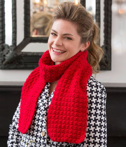 Berry Stitch Scarf in Red Heart Super Saver Jumbo - LW4131 - Downloadable PDF