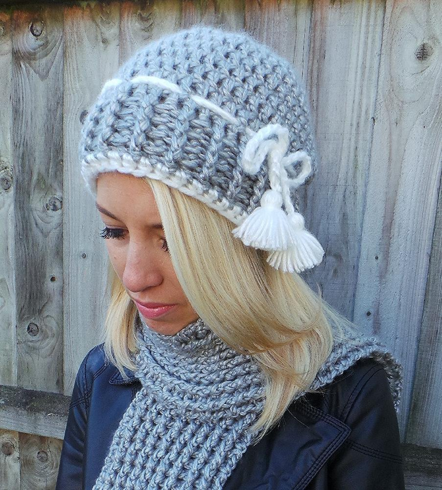 Nordic Headband Knitting Pattern : Nordic Tassel hat and scarf Crochet pattern by Kerry Jayne ...