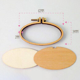 Dandelyne 6.2cm x 3.4cm Miniature Embroidery Hoop Pack with Brooch Back (SLGHZBCH)