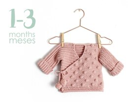 Size 1-3 months- NEO Crochet Crossed Baby Jacket