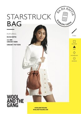 Starstruck Bag in Wool and the Gang Ra-Ra Raffia - Leaflet