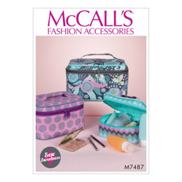 McCall's Travel Cases in Three Sizes M7487 - Sewing Pattern