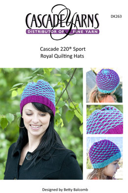 Royal Quilting Child Hat in Cascade 220 Sport - DK263