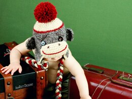 Spunky The Sock Monkey Hat PDF Crochet Pattern