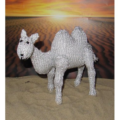 Silver  Camel Toy Animal