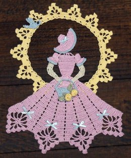 0740 Spring is in the Air Crinoline Girl Doily