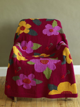 Flower Power Afghan in Lion Brand Wool-Ease
