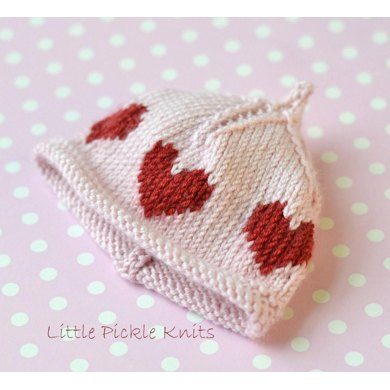 Baby Beanie Little Hearts Knitting Pattern By Little Pickle Knits