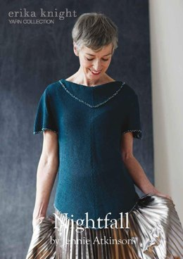 Nightfall Top by Jennie Atkinson  in Erika Knight Studio Linen - Downloadable PDF