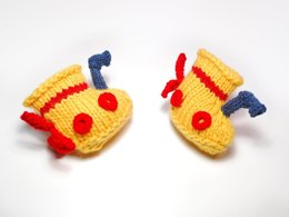 Yellow Submarine Knit Baby Boots