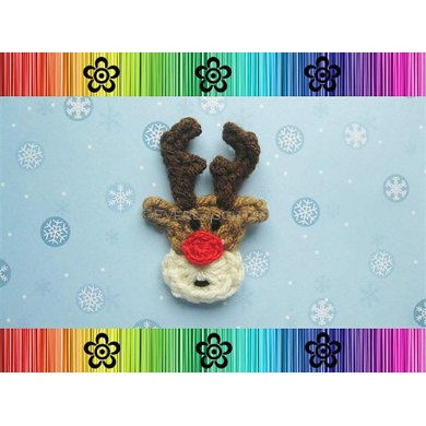 Rudy the Reindeer Applique